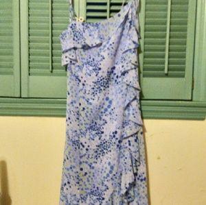 Fiorelli assymetrical blue dress bubble print